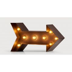 Broadway Arrow Table Lamp in black | made.com £89