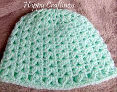 BABY BEANIE HAT V cluster stitch Newborn 0-3 months Hand Crochet Baby Gift Baby Birth / Christening gift - Edit Listing - Etsy