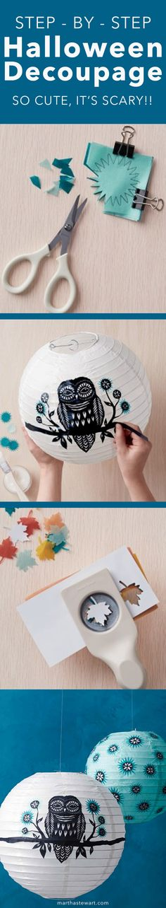 These Decoupage Halloween Crafts Are So Cute, It's Scary