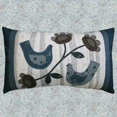 Love bird pillow by Lynette Anderson