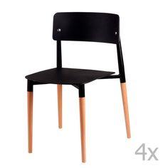 Set 4 scaune cu picioare din lemn sømcasa Claire, negru Chair, Furniture, Design, Home Decor, Decoration Home, Room Decor, Home Furnishings, Stool