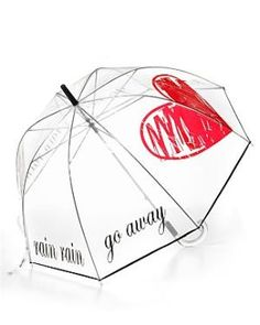 "Felix Rey ""Rain Rain Go Away\"" Clear Bubble Umbrell- Bloomingdales.coma   the perfect umbrella"