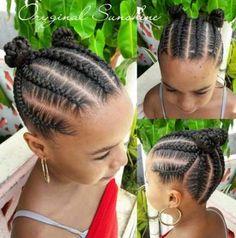Toddler Braided Hairstyles, Black Kids Hairstyles, Natural Hairstyles For Kids, Baby Girl Hairstyles, Kids Cornrow Hairstyles, Cornrows Kids, Little Girl Braid Hairstyles, Braids Cornrows, School Hairstyles