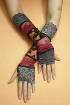 Gypsy Armwarmers in Bohemian Style Multicolor by littlegallery