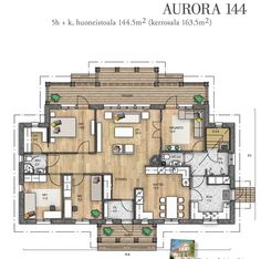 //Kannustalo Own Home, Future House, Aurora, House Plans, Multi Story Building, Floor Plans, Flooring, How To Plan, Interior