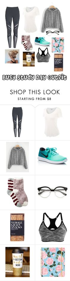 """Busy Study Day Outfit"" by audrabergevin ❤ liked on Polyvore featuring Alo, NIKE, Free Press and Nicolas Vahé"