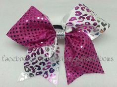 Hey, I found this really awesome Etsy listing at https://www.etsy.com/listing/193648684/cheer-hair-bow-leopard-print