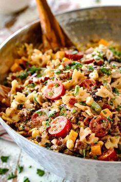 Cowboy Pasta Salad with the BEST Dressing! ♛BOUTIQUE CHIC♛