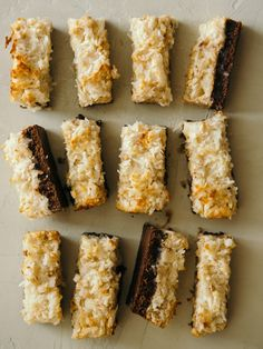 Coconut and Peanut Butter Brownie Bars