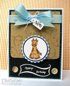 DeNami Birthday Giraffe card by @Dana Seymour