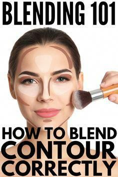 Blending How to Blend Contour Correctly for a Sculpted Face Mix Contour . - Blending How to Blend Contour Correctly for a Sculpted Face Mix Contour: 9 Tips and Products I - How To Blend Contouring, Contouring For Beginners, Face Contouring, Makeup Tutorial For Beginners, Contouring And Highlighting, Contouring Makeup Tutorials, Makeup Blending, Best Makeup Tutorials, Art Tutorials