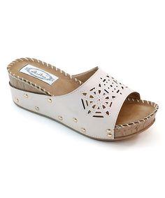 2c33d9693 Peach Geometric Cutout Wedge  zulily  zulilyfinds Wedge Shoes