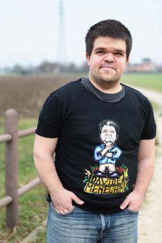 Davide Meneghini Italian Politic with his Friend-toons T-shirt.