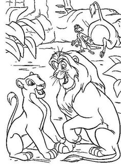 41 best coloring pages the lion king images  coloring