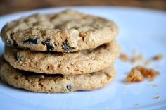 Peanut Butter Raisin Cookies: 1 cup of nut butter 2/3 cup of sugar 1 ...