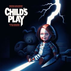 Joe Renzetti Child's Play: Original 1988 Motion Picture Music Colored Vinyl Child's Play is a 1988 American horror film directed by Tom Holland and Ken Jeong, Dave Bautista, Good Guy Doll, Childs Play Chucky, Horror Icons, Horror Film, Film Score, Classic Horror Movies, Original Movie