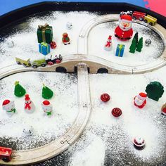 It's one of the most popular activities at our Messy Christmas party 🎉 it's our polar express! Get your tickets at our website.