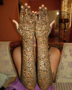 Full hands mehendi design
