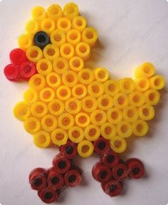 Easter chick perler beads by BelMary