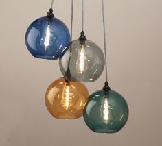 Fritz Fryer    These colourful chandeliers from the Hereford range from Fritz Fryer are just fantastic! The attractive selection of colours are great for adding in some cool vibrancy into an interior, in particular the teal and amber shades are really fun and would help to create an eye-catching feature in the room.