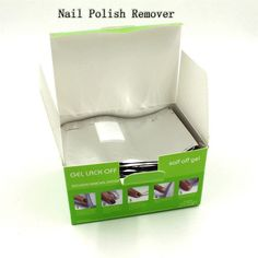 2016 Gel Remover 100Pcs/Lot Nail Art Gel Polish Lacquer  Wraps UV Gel Remover Nails Care Tools