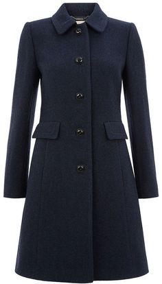 Navy Gweneth Coat - Hobbs