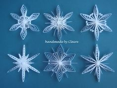 Claire's paper craft: Beautiful snowflakes
