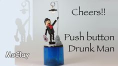 DIY Push button puppet. Drunk Man - Polymer clay tutorial - YouTube