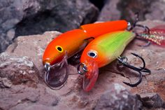 Fishing lures: Rapala jointed and Rapala X-Rap.     .  CLICK the image above for more info.  http://www.hooknsinker.com