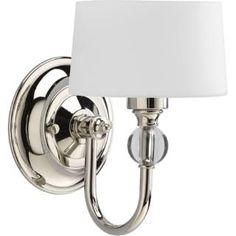 Check out the Progress Lighting P7049-104WB Fortune 1 Light Wall Sconce with Krypton Bulb priced at $82.08 at Homeclick.com.