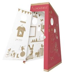 My cacabane. Cardboard hut to teach to the children the potty training in joy