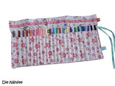 Pencil Case ~ Pencil Cover    extra large    for 24 pencils    with name embroidery    washable at 40°C     +delivery without pencils+