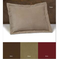 Shop for Tailored Microsuede Shams (Set of Get free delivery On EVERYTHING* Overstock - Your Online Bedding Basics Store! Pillowcases & Shams, Pillow Shams, King Comforter Sets, Duvet Sets, Mink Colour, Color, Bed Ensemble, How To Dress A Bed, Satin Pillowcase