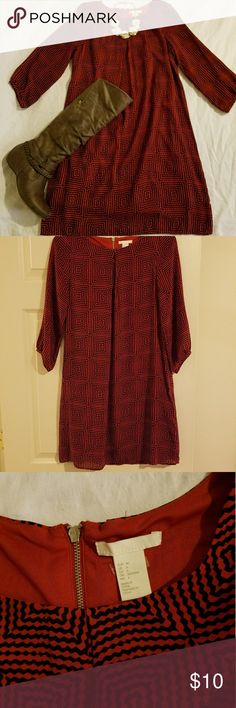 H&M patterned dress Excelent condition. Worn once. Fits loose. H&M Dresses Midi