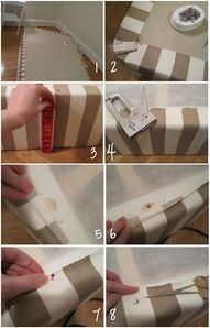 Cute way to make your modern bedskirt without the skirt