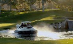 Mieux que le Cart de Golf Robot, l'aéroglisseur!