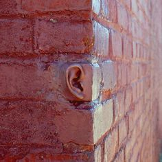 "Artist: Michael Beitz Title: ""Ear Brick"" Medium: Cement Date: 2001 Size: Unknown Urbane Kunst, Photo Vintage, Saatchi Gallery, Foto Art, Street Art Graffiti, Chalk Art, Public Art, Urban Art, Installation Art"