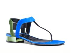 Gucci women's liberty colorblock suede thong sandal - Italian Boutique €299