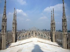 Milan Cathedral Roof--Aerial View
