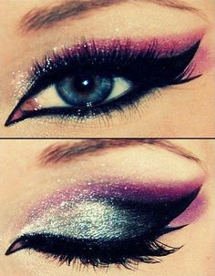 Make Up eye liner  sliver / pink