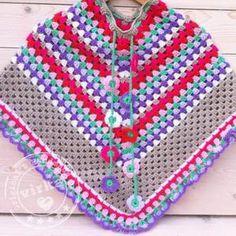Bekijk de foto van virka met als titel Mooie gehaakte poncho voor meisjes van…