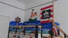 Hochbett für meinen Piratensohn Painting, Art, My Son, Platform Bed, Pirates, Art Background, Painting Art, Kunst, Paintings