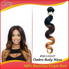 Unprocessed 100% Brazilian Virgin Hair human hair Ombre hair Extensions Body Wave 12-30inch 1bundle 100g 1B/33/27Multi Color $22.25 - 58.25