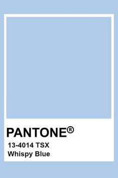 This color is blue in hue, light in value, and low in chroma. This creates a very light and airy blue. Bleu Pantone, Pantone Swatches, Color Swatches, Pantone Orange, Pantone Color Chart, Pantone Colour Palettes, Pantone Colours, Colour Pallete, Colour Schemes