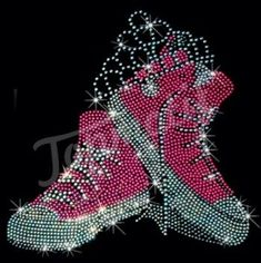 Grandma Quotes Discover Pink Crowned Sneakers Rhinestone Hotfix Design for Womens Clothing - Topmotif Rhinestone Shirts, Bling Shirts, Rhinestone Art, Rhinestone Transfers, Cool Patterns, Beading Patterns, Happy Birthday In Heaven, Harley Davidson Images, Breast Cancer Quotes