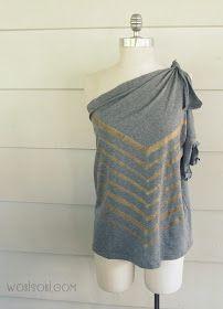 iLoveToCreate Blog: Altered Chevron No-Sew T-shirt