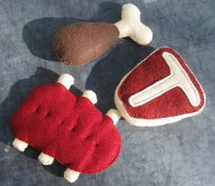 Pickle Things Felt Play Food - Meat at Black Wagon