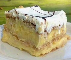 FOOD AND COOK : Easy 3 Ingredient No Bake Pudding Cake!