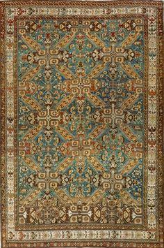 Caucasian Antique Kazak Rug x Persian Carpet, Persian Rug, Aubusson Rugs, Textiles, Rustic Rugs, Fabric Rug, Passementerie, Floor Rugs, Handmade Rugs