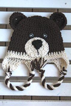 4d9173c538f Bear Hat Animal Hat Kids Hats Crochet Hat Adult Hats Baby